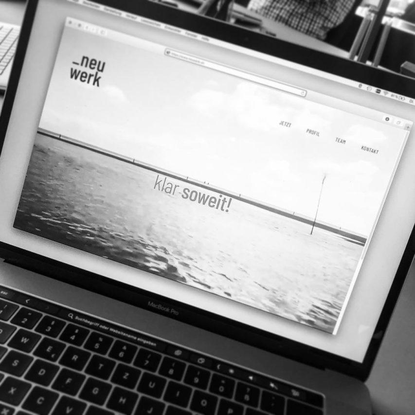 Wir sind #online! #klarsoweit #neuwerk #website #architektur #kiel
