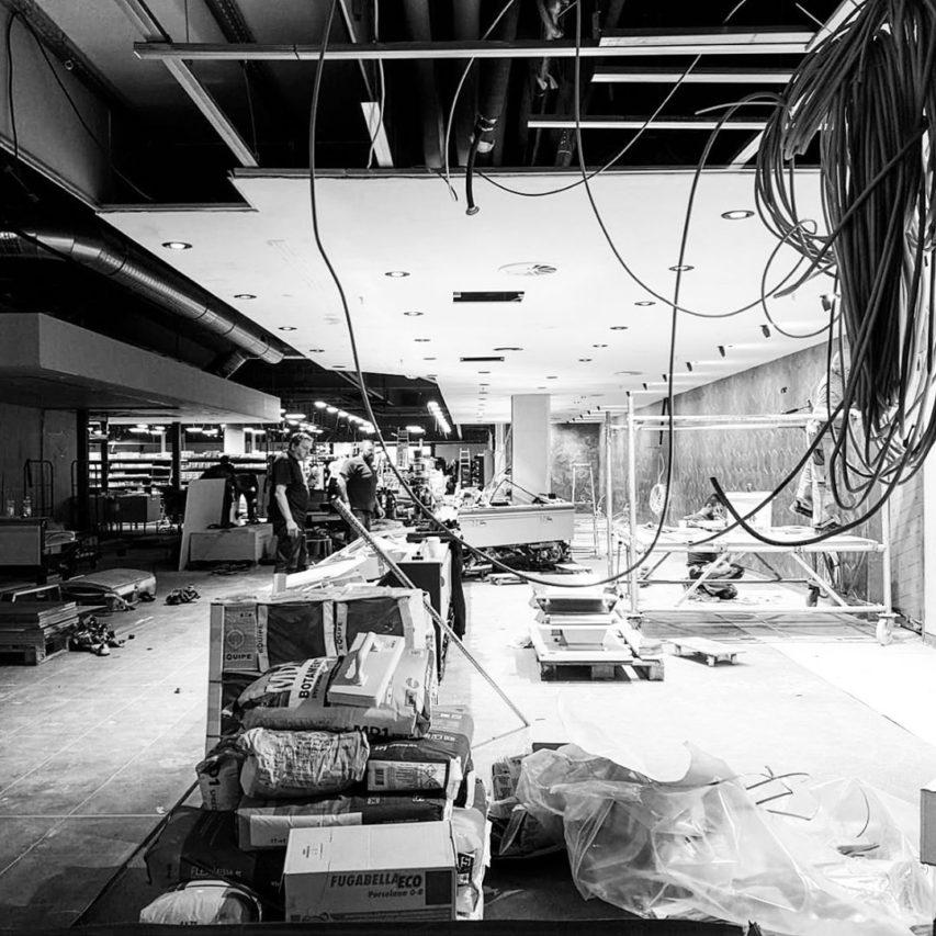 Endspurt! Wir nähern uns der Eröffnung! #edeka #neumünster #neuwerk #vollgas #superteam #superbaustelle #architektur